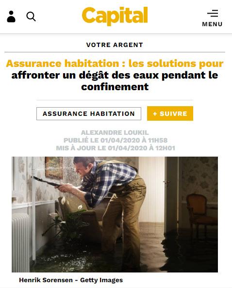Assurance habitation : les solutions pour affronter un dégât des eaux pendant le confinement