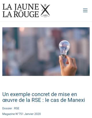Un exemple concret de mise en œuvre de la RSE : le cas de Manexi