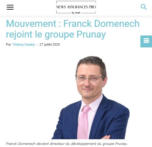 Mouvement : Franck Domenech rejoint le groupe Prunay
